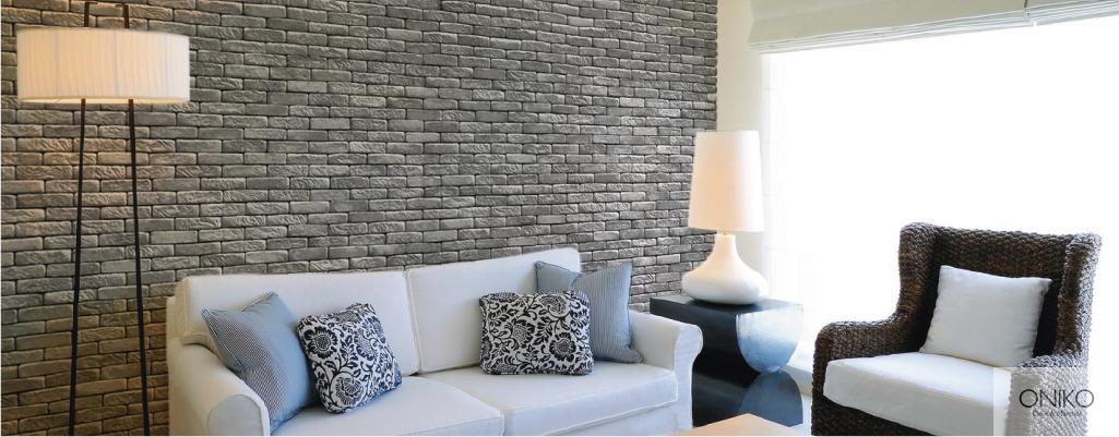 Fachaleta piedra tabique huatulco muros recubrimientos en mercado libre - Recubrimientos de paredes ...