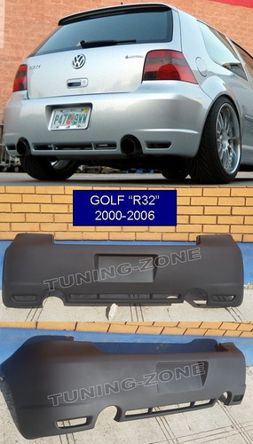 facia defensa spoiler vw golf r32 r-line gti a4 mk4 trasera