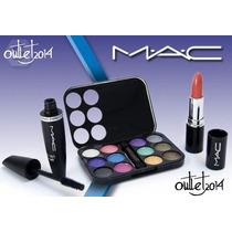 Set De Maquillaje Mac, Sombras 12 Tonos, Labial Y Mascara