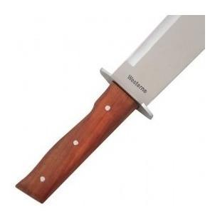 facão aço inox bainha lâmina serrilhada caça leve resistente