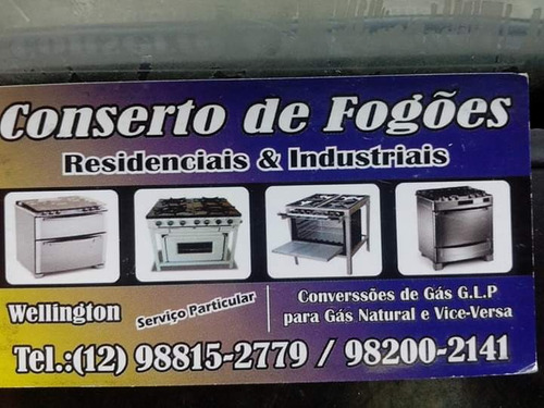 faço conserto de fogões resisdenciais e industriais