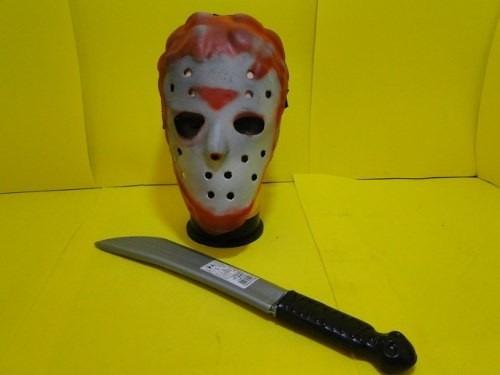 facão e mascara jasom mascara  de  e.v.a. e facão de 40 cm