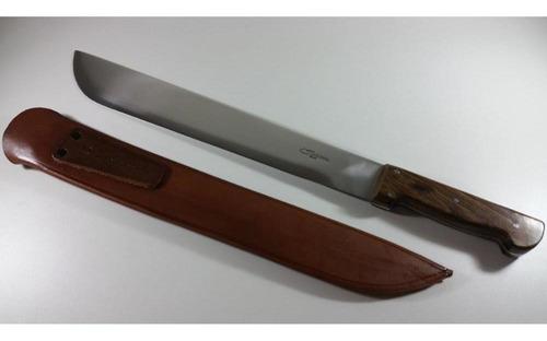 facão gaúcho artesanal cascavel 16' aço carbono full tang