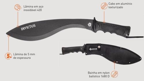 facão machete jungle - invictus - faca kit de sobrevivência