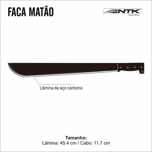 facão ntk matão com nf - 57 cm