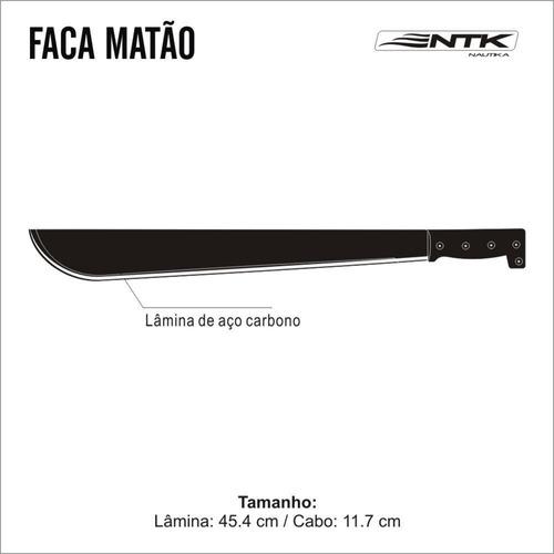 facão para mato com lâmina e - nautika