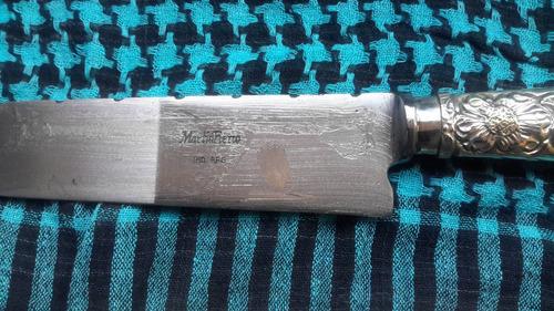 facon de alpaca de 24cm de hoja de acero carb martin fierro