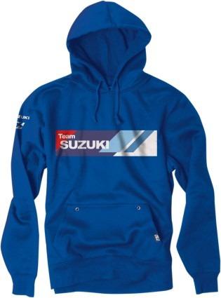 factory effex suzuki sudadera para hombre con capucha azul/b