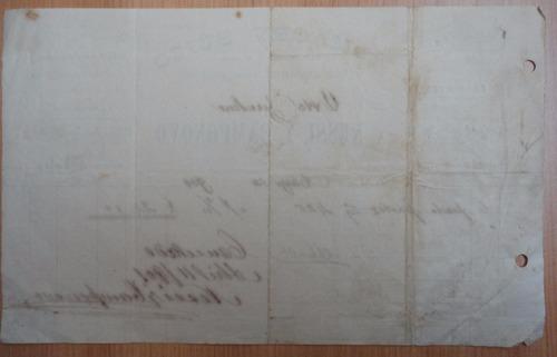 factura antigua almacen suizo viña del mar 1901