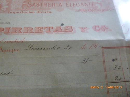 factura de maquines de coser  almacen del sol 31 dic 1931