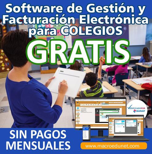 factura electronica gratis para colegio e institutos