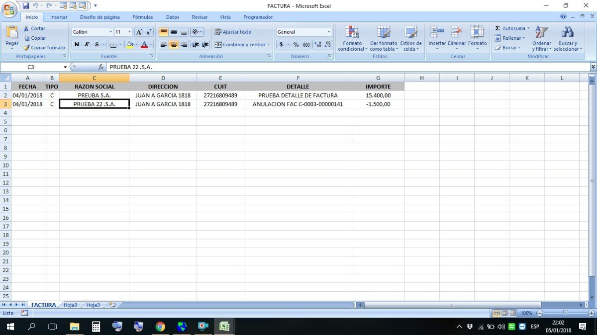 Factura Electrnica Por Lote Excel 70000 en Mercado Libre