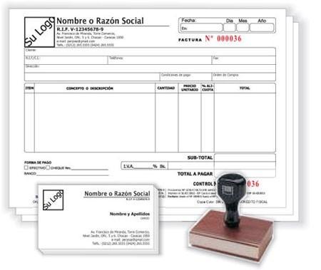 facturas seniat imprenta digital sellos de caucho todo impre