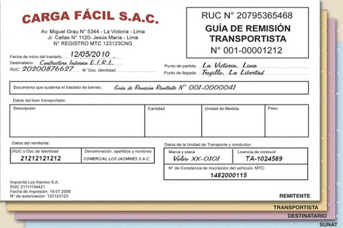 facturas/block de formularios/ guías de remisión/etiquetas