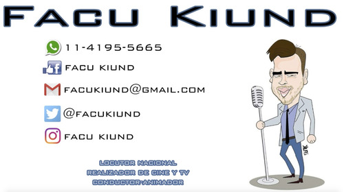 facu kiund locutor nacional - locuciones y ediciones