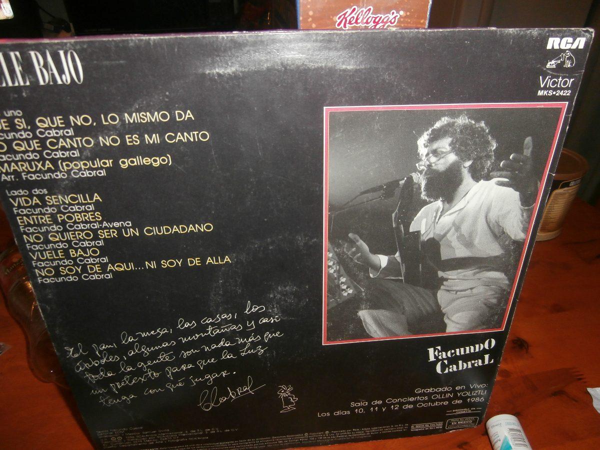 d49778407 Facundo Cabral Disco De Acetato Lp Vuele Bajo - $ 100.00 en Mercado ...