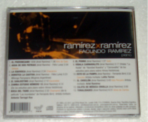 facundo ramirez piano ramirez x ramirez cd sellado