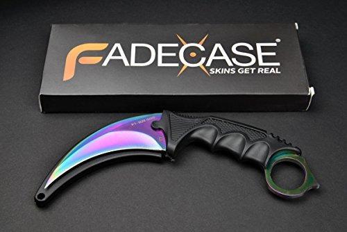 fadecase karambit classic - fade - real csgo knife skin cou