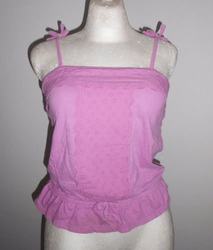 faded glory blusa color lila de tirantes, talla m