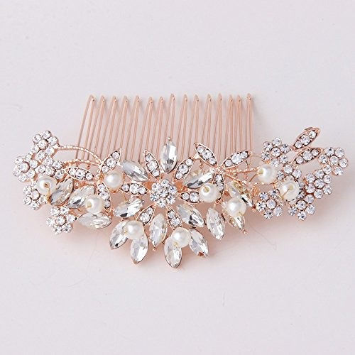 fairy moda vintage pearl crystal accesorios para el cabello
