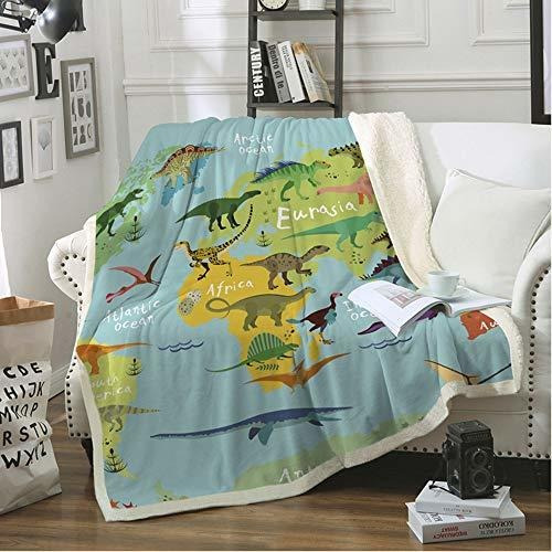 fairyshe kids manta de manta sherpa de dinosaurio para niño