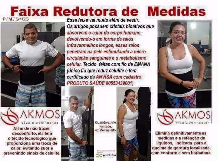 Faixa Abdominal Redutora De Medidas Akmos - R  289 e9987cbc3bb