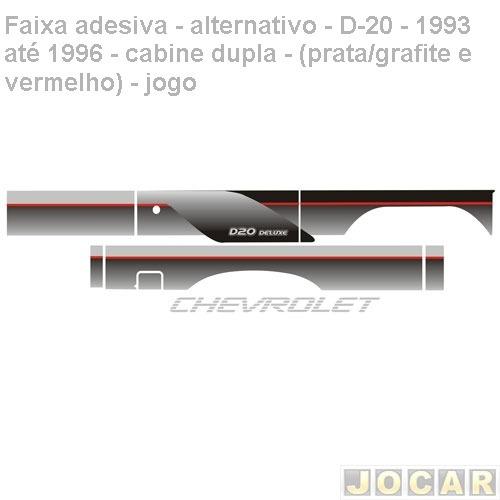 faixa ades-alt.- d-20-93/96-cabine dupla- prat/grafite verm