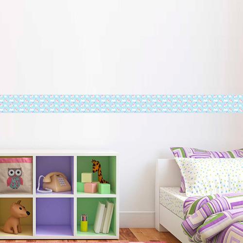 faixa adesiva decorativa border unicórnios1 10 cm x 1 metro