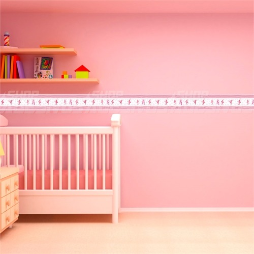Faixa Quarto Bebe ~ Faixa Adesiva Decorativa Parede Quarto Bebe Bailarina Rosa R$ 7,95 em Mercado Livre