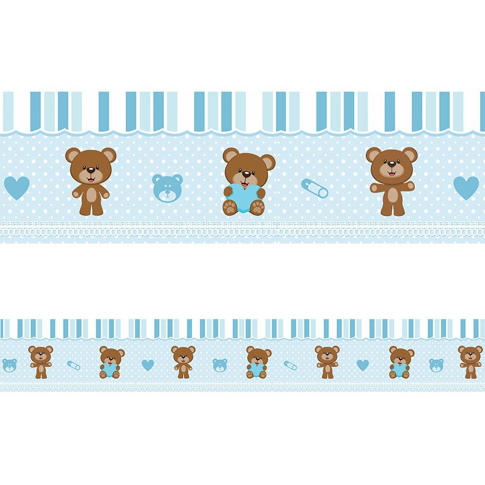 Aparador Laqueado Bege ~ Faixa Adesiva Decorativa Parede Quarto Bebe Ursinho Azul R$ 7,10 em Mercado Livre