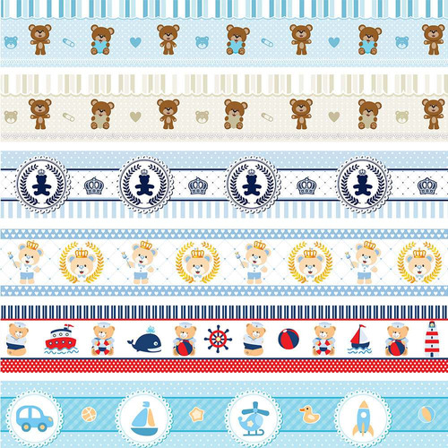 faixa adesiva decorativa quarto bebe safari bege 10 metros