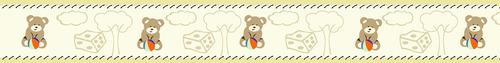 faixa adesiva  ursinho mais  arvores