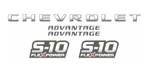 faixa adesivo chevrolet s10 advantage flex 2009 s10kit05