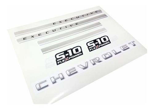 faixa adesivo chevrolet s10 executive 4x4 2009 2011 grafite