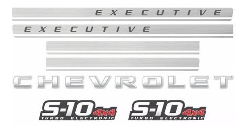 faixa adesivo chevrolet s10 executive 4x4 2010 prata