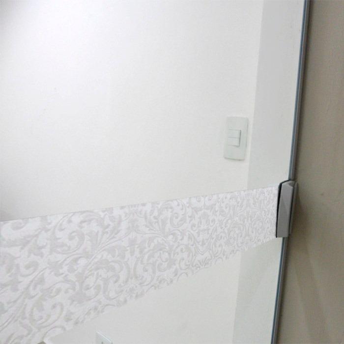 Faixa adesivo jateado p portas vidro condessa 0 10 x 1 for Adesivos p porta de vidro