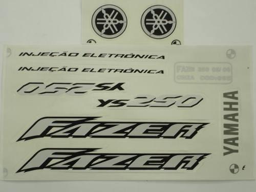 faixa adesivo moto fazer 250 05 06 preta