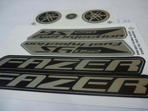 faixa adesivo moto fazer 250 12 preta