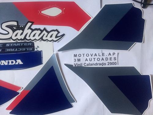 faixa adesivo nx 350 sahara 92 azul