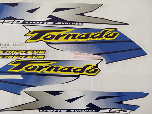faixa adesivo xr 250 tornado 01 02 azul