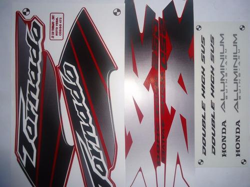 faixa adesivo xr 250 tornado 01 02 vermelha frete free br