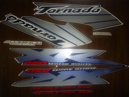 faixa adesivo xr 250 tornado 03 azul frete free br