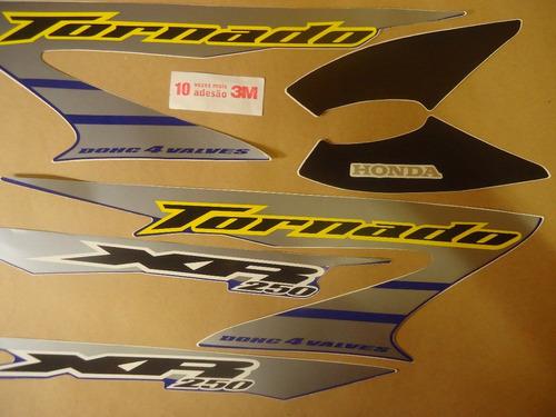 faixa adesivo xr 250 tornado 06 azul