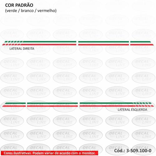 faixa auto adesiva fiat 500 itália - cor padrão