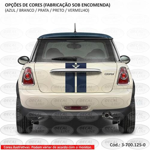 faixa auto adesiva mini cooper paralela 2013 - traseira