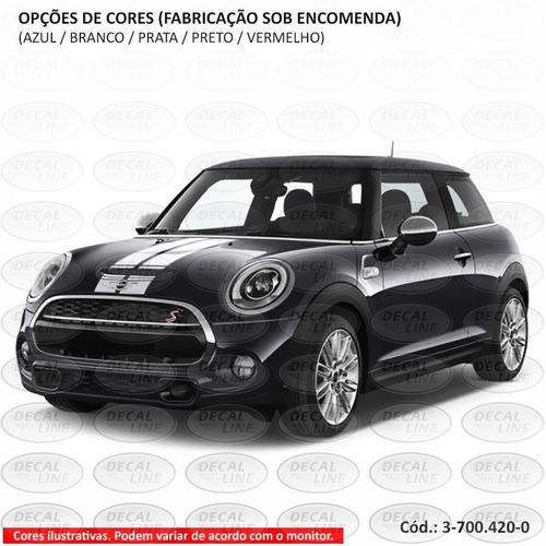 faixa auto adesiva mini cooper paralela 2014 - capô