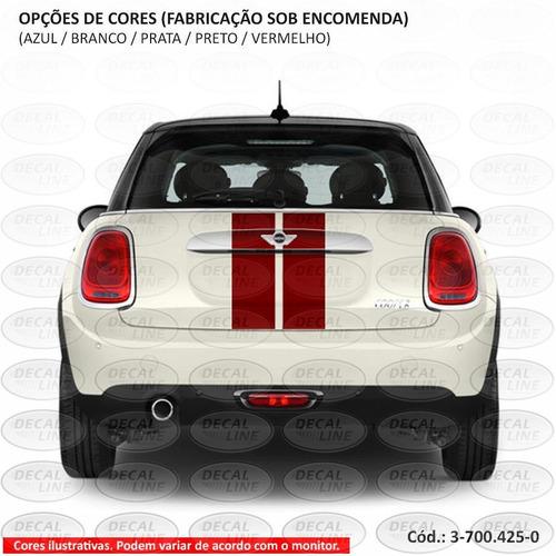 faixa auto adesiva mini cooper paralela 2014 - traseira