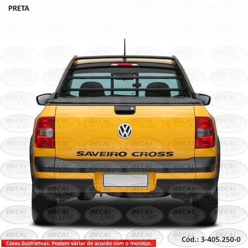 faixa auto adesiva saveiro cross 2011 - tampa traseira