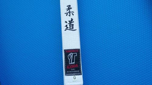 faixa bordada grossa judô 100% algodão