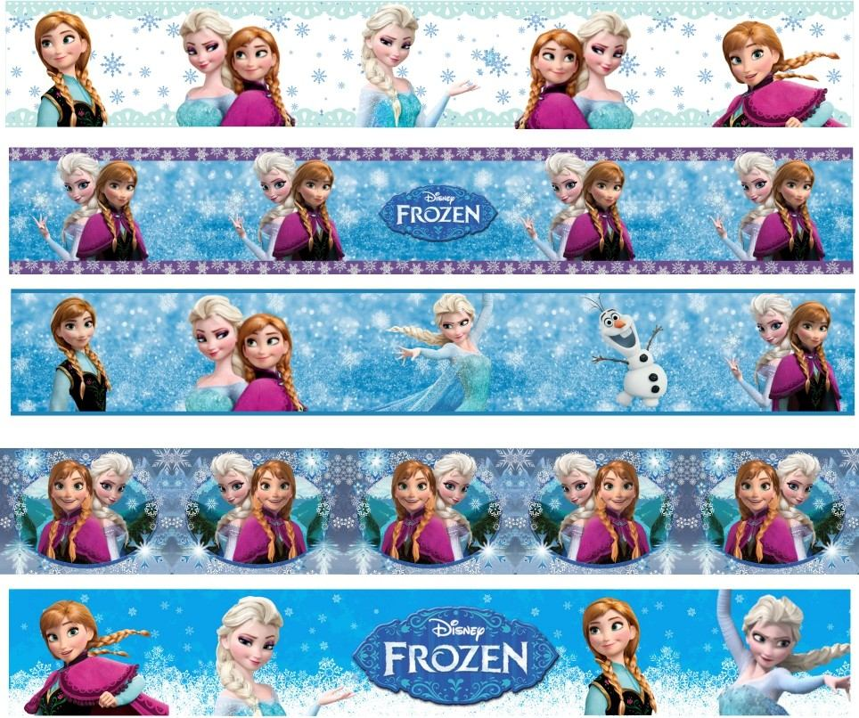 Aparador Moderno Branco ~ Faixa Border Decorativa Infantil Beb u00ea Frozen Papel Parede